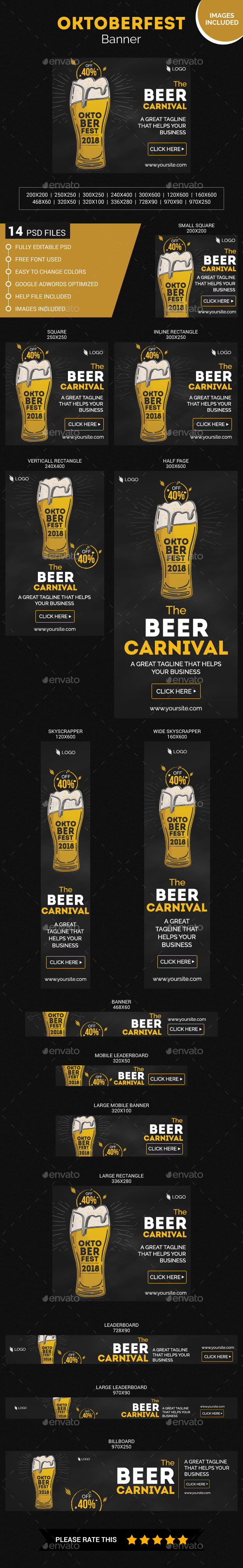 Sketchy Oktoberfest Web Banner - Banners & Ads Web Elements