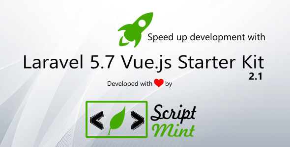 Laravel 5.7 Vue.js SPA Bootstrap Admin Starter Kit - CodeCanyon Item for Sale