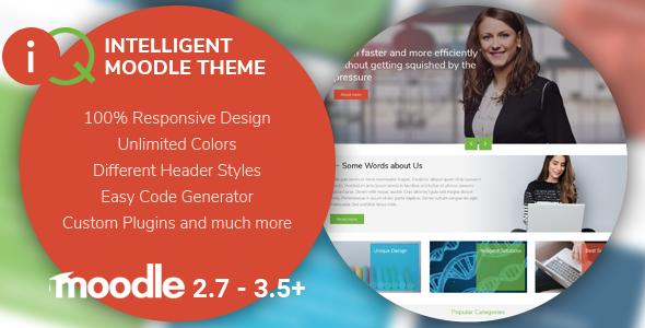 IQ | Intelligent Moodle Theme - Moodle CMS Themes