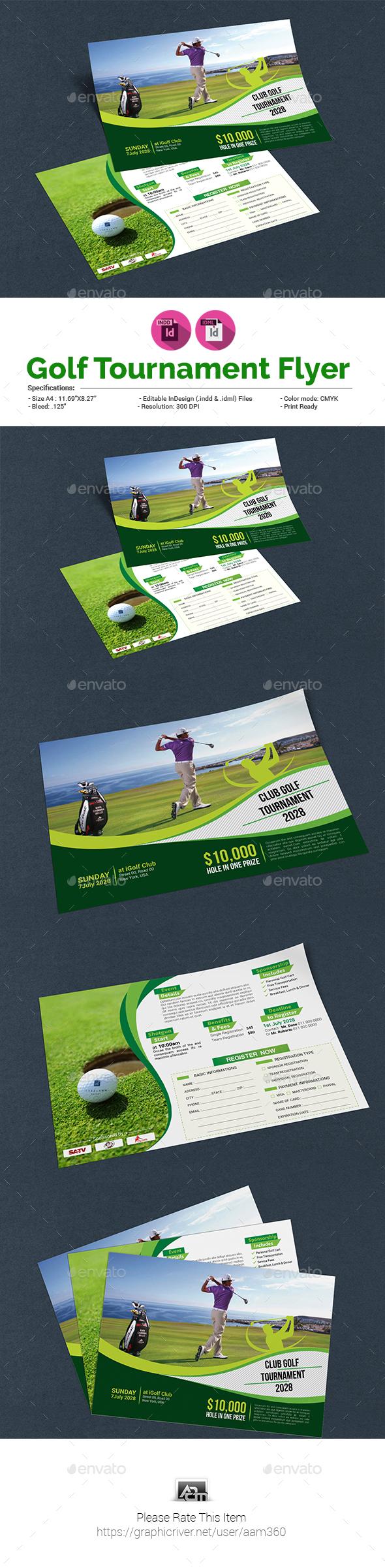 Golf Tournament Flyer Template - Sports Events