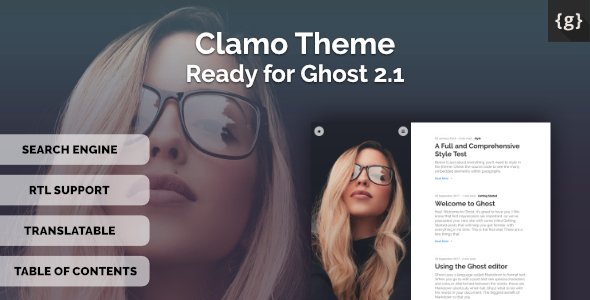 Clamo - Personal Ghost Theme - Ghost Themes Blogging