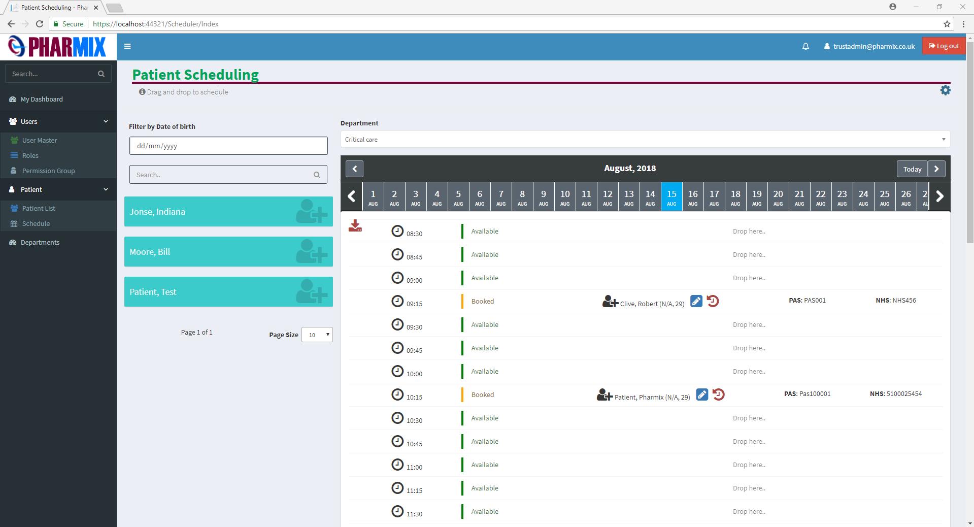 Booking Scheduler Theme  NET CORE MVC Bootstrap