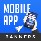 Mobile App Web Banner Set