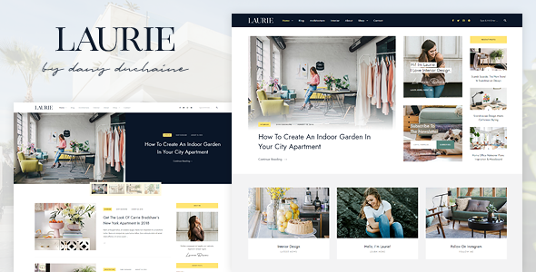 Laurie - An Interior Design WordPress Blog & Shop Theme