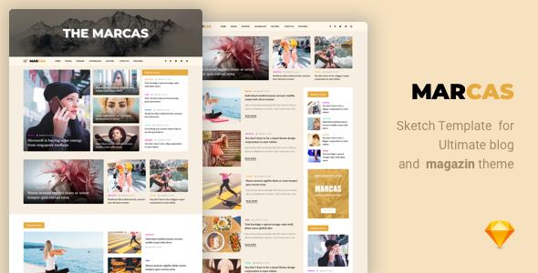 Marcas | Blog & Magazine Sketch Template - Sketch Templates
