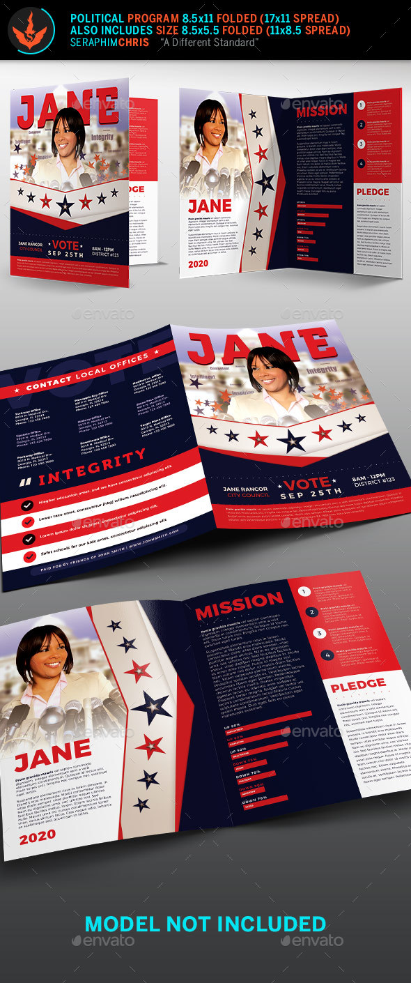 Vote Jane 2 Political Brochure Template 2 - Corporate Brochures
