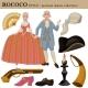 Rococo or 18 Century European Old Retro Fashion
