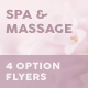 Spa and Massage Flyers – 4 Options