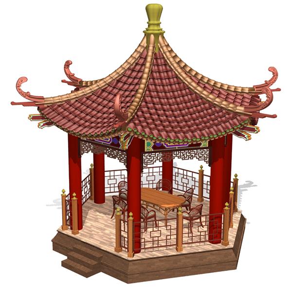 Chinese Gazebo - 3DOcean Item for Sale