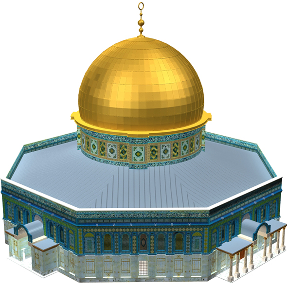 Al Aqsa Mosque Mezroca - 3DOcean Item for Sale
