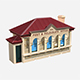 Post Office Building - 3DOcean Item for Sale