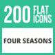200 Four Seasons Flat Icons