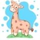 Giraffe - Cartoon Illustration.