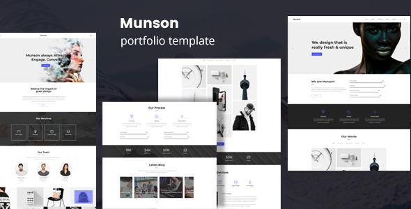 Munson - Minimal Portfolio Template - Portfolio Creative