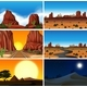 Set Of Different Desert Scenes