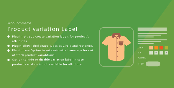 WordPress WooCommerce Product Variation Label