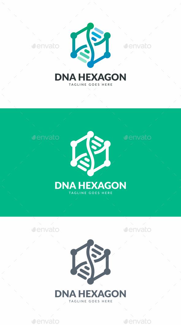 DNA Hexagon Logo - Symbols Logo Templates