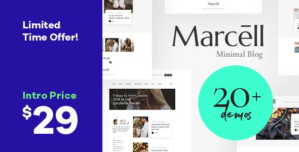 Marcell | Minimal Personal Blog & Magazine WordPress Theme