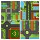 Set Of Aerial Views Of Road