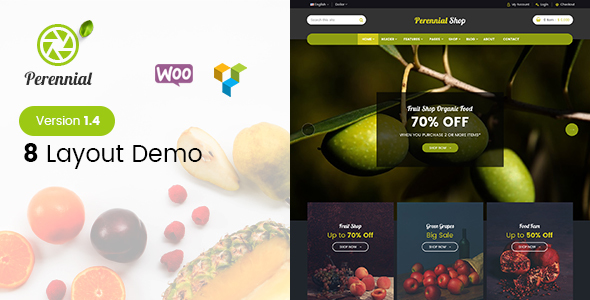 Perennial - Store WooCommerce WordPress for Organic Food Theme