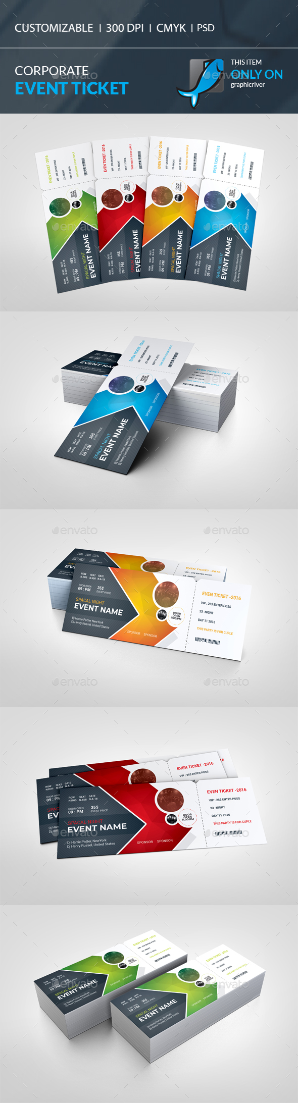 Event Ticket - Cards & Invites Print Templates
