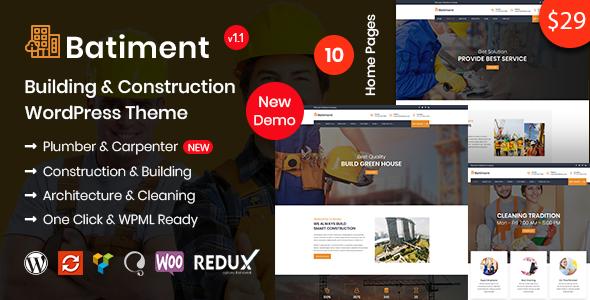 Batiment Construction - Building & Construction WordPress Theme
