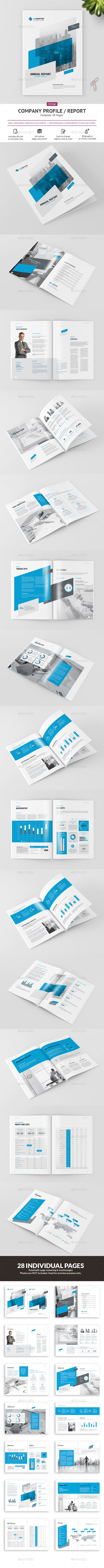 Company Profile / Annual Report - Brochures Print Templates