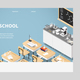 Isometric Chemistry Classroom Landing Page