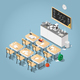 Isometric Chemistry Classroom Illustration