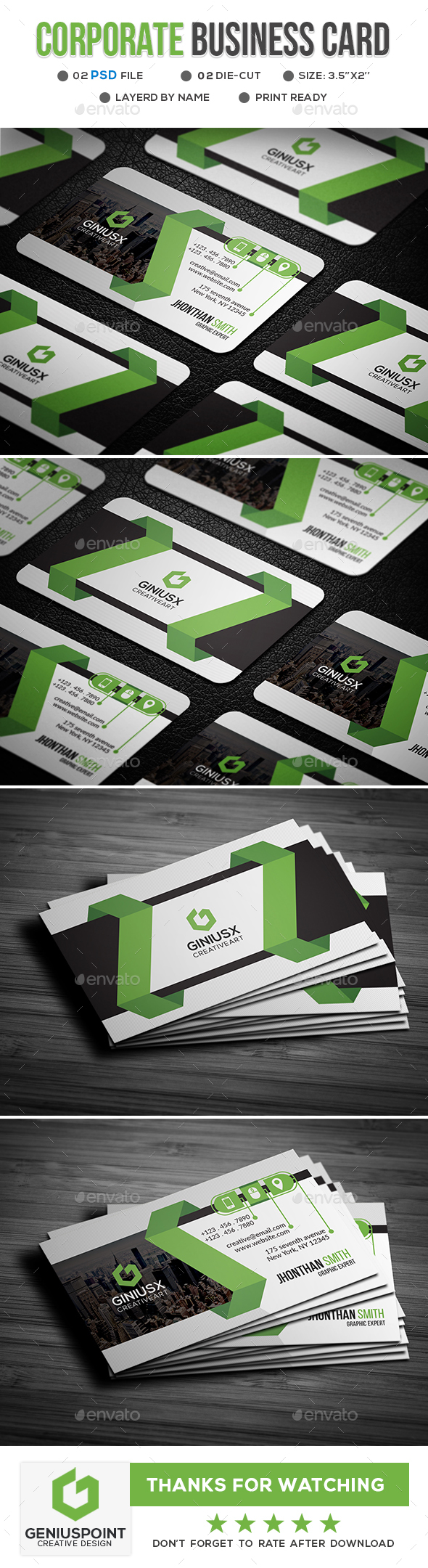 Business card templates designs from graphicriver reheart Image collections