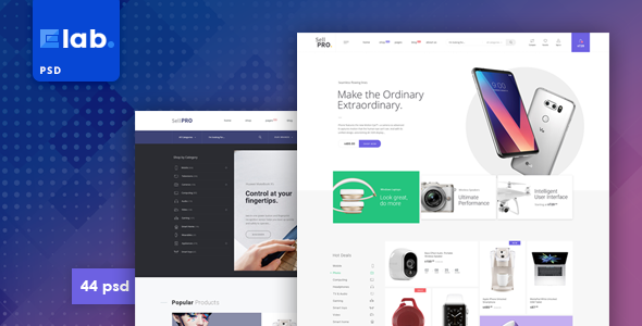 E-lab - eCommerce PSD Template - Shopping Retail