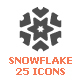 Snowflake Filled Icon - GraphicRiver Item for Sale