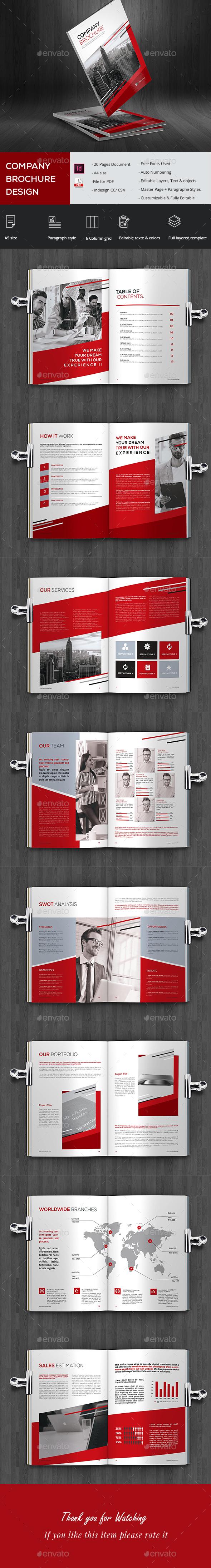 Stylish Company Brochure - Brochures Print Templates