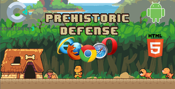 Prehistoric Defense (HTML5 Game) - CodeCanyon Item for Sale