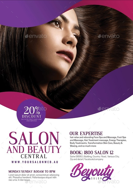 Beauty Salon and Spa Flyer by Artchery | GraphicRiver