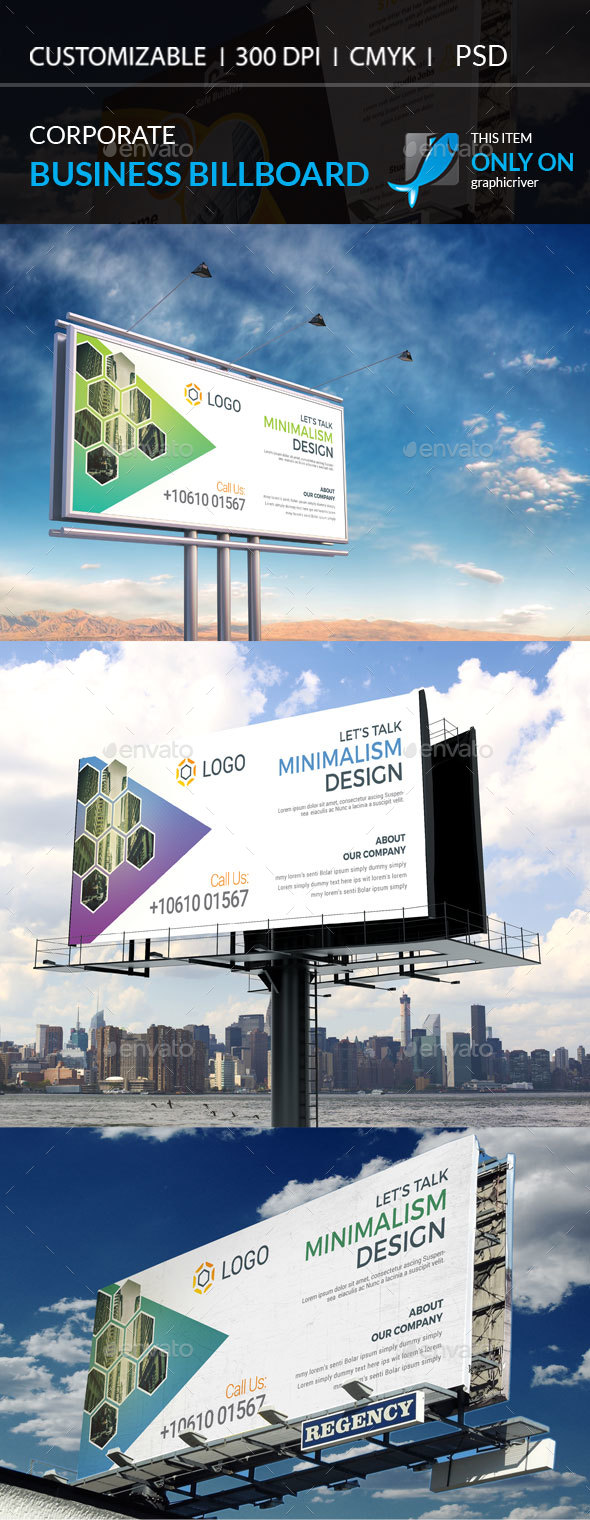 Corporate Billboard Template - Stationery Print Templates