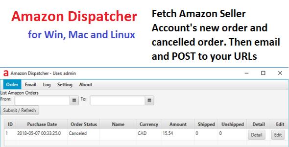 Amazon Dispatcher - CodeCanyon Item for Sale