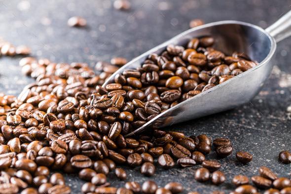 Roasted coffee beans. Stock Photo by jirkaejc | PhotoDune
