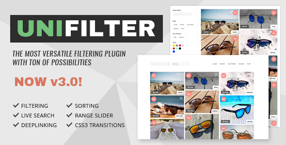 UniFilter  - Multipurpose jQuery Plugin for Filtering, Sorting & Searching - CodeCanyon Item for Sale