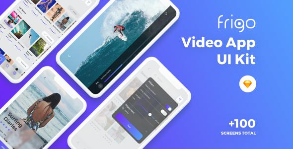 Frigo - Video App UI Kit - Sketch Templates