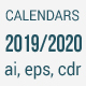 Calendars 2019 - 2020 Year - GraphicRiver Item for Sale