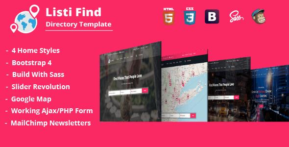 Listi Find - Directory & Listing Template - Business Corporate