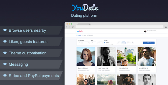YouDate - Dating Script            Nulled