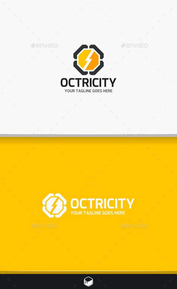 Octagon Electro Logo - Symbols Logo Templates