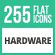 256 Hardware Flat Icons
