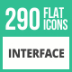 290 Interface Flat Icons