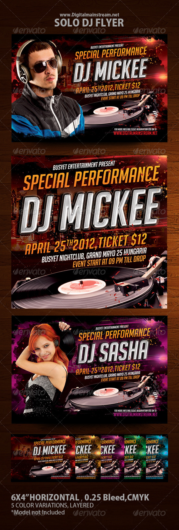 Solo Dj Flyer Template - Clubs & Parties Events