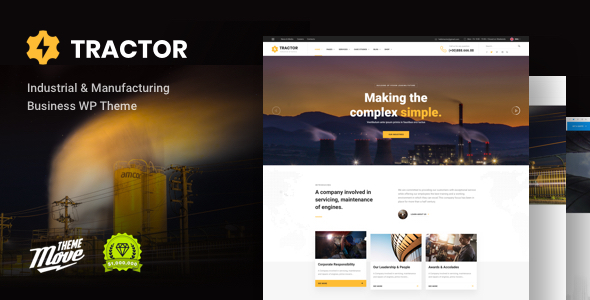 Tractor - Industrial/ Manufacturing WordPress Theme