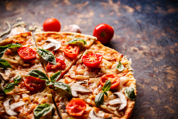 Traditional Italian pizza - Stock Photo - Images