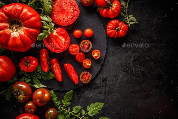 Chopped tomato - Stock Photo - Images